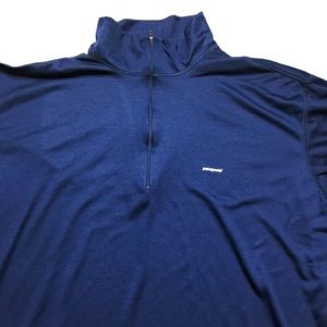 Patagonia Shirts - Patagonia Capeline 1/4 Zip Blue Pullover XXL